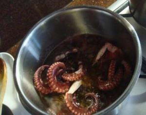 Octopus in marinade
