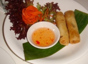 Spring rolls at Wok Station Thai restaurant