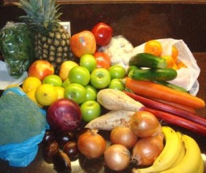 An image of fresh fruit and vegetables