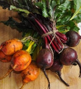 An image of a organic beetroot selection