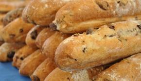 Fresh olive ciabatta bread