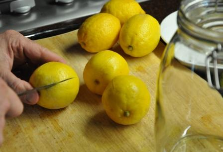 Preping lemons for preserving