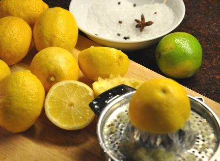An image of lemons, salt and spices