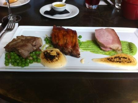 3 Ways pork at Baroque bistro