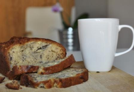 An image of fresh banana bread