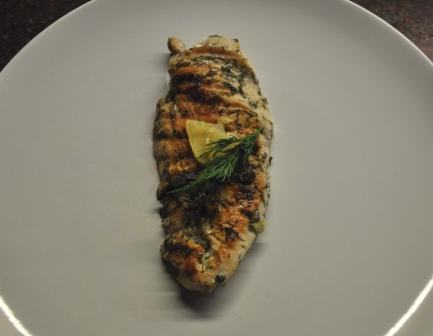 An image of grilled dill and lemon chicken