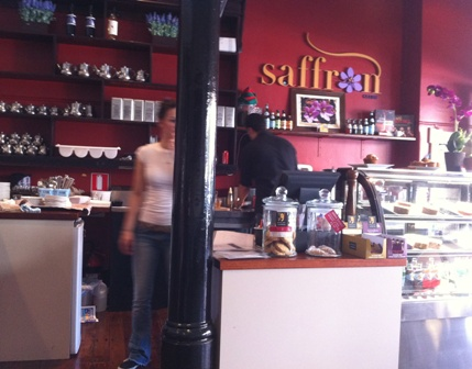 An image of the inside of Saffron Cafe