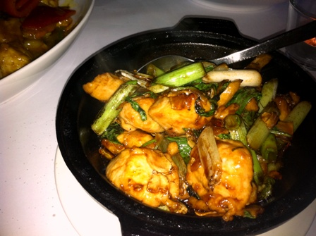 Sizzling chicken at blue eye dragon