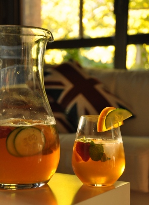 An image of Pimms No.1 and Lemonade