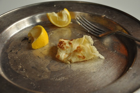 Left over pancake with lemon