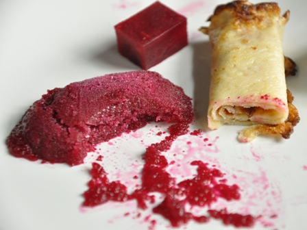 An image of a beetroot dessert