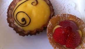 Petit four and citron tarte
