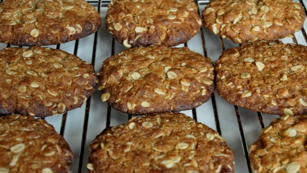 Freshly baked ANZAC biscuits