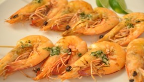 Prawns in dill and garlic butter