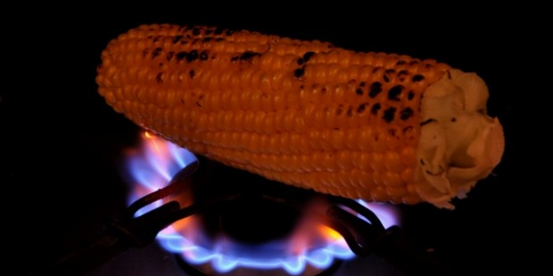 Chargrilled sweet corn