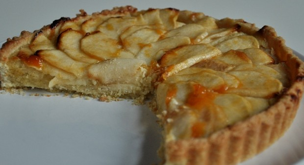 A slice of French apple tart