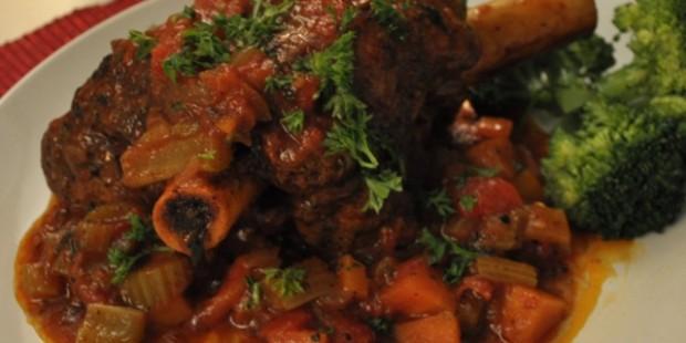 Humble crumble's tomato spiced lamb shanks
