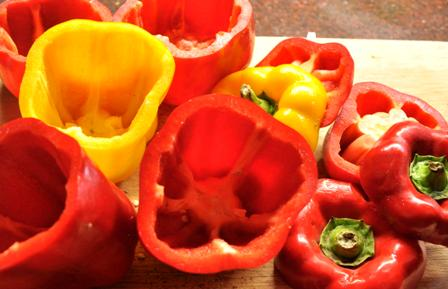 An image of mixed capsicums