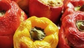 Greek style stuffed pepper