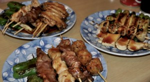 An image of a selection of Yakitori dishes.