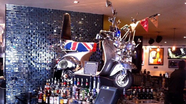 AN image of a Lambretta at Hard Rock cafe Sydney