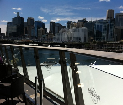 view from Hard Rock cafe Sydney