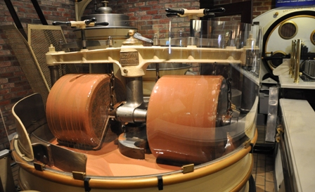 Vintage Ghirardelli machinery