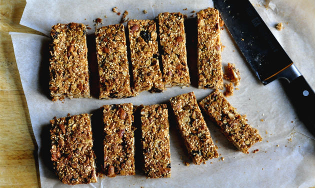 Energy packed muesli bars