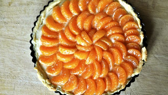 An image of mandarin tart