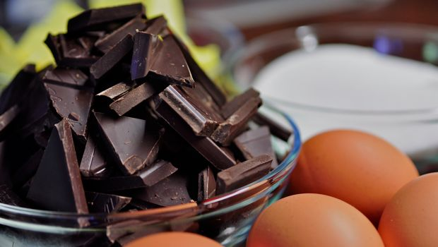 An image of chocolate butter and eggs