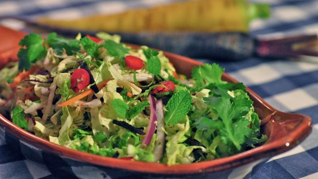 An image of lime slaw salad in a bowl