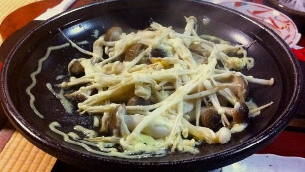 An image of cooked Japanese mushrooms