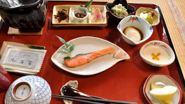 An image of a traditional breakfast in Japan