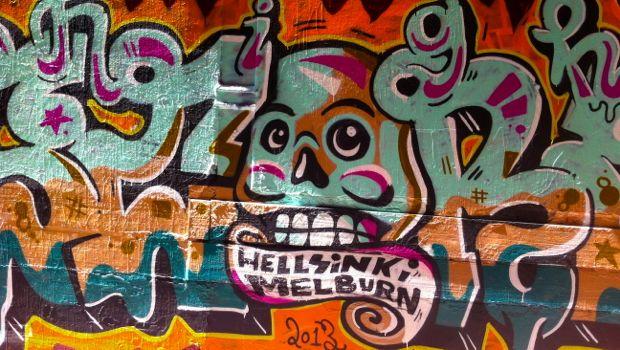 Graffiti in a Melbourne laneway
