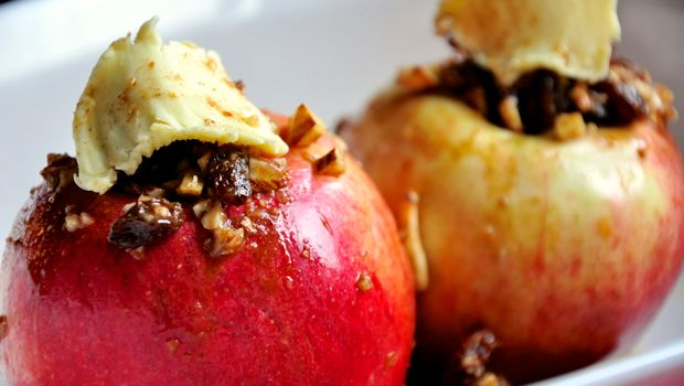 An image of two baked apples
