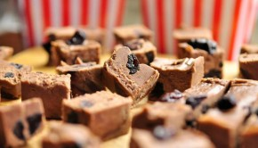 Black forest fudge cubes