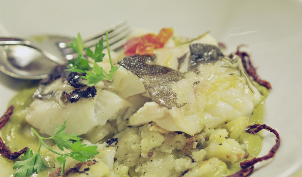 Salt baked cod at Fratellini's Osterio del mare