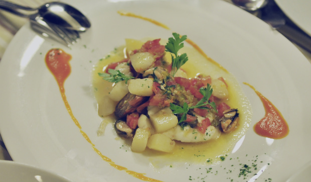Monkfish at Fratellini's Osterio del mare