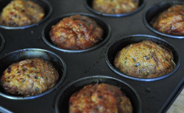 Meaty cupcakes - post bake