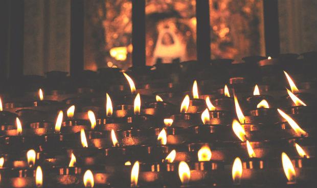 Candles at Santiago de Compostela