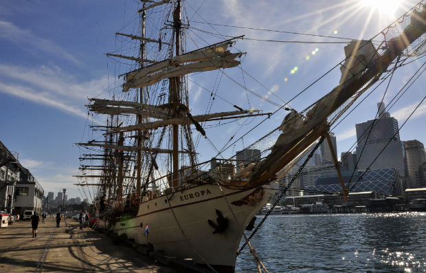 Tall ships in Sydney at Darling Harbour