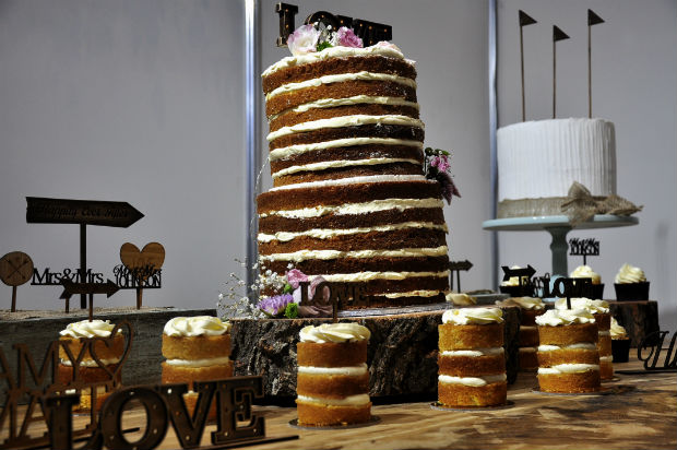 Dessert table stack at Cake Bake and Sweets 2014