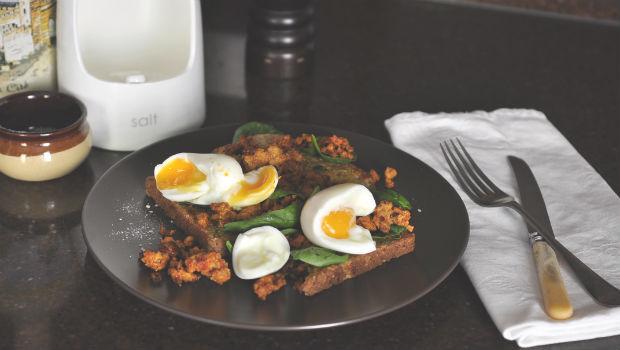 Deconstructed chorizo breakfast
