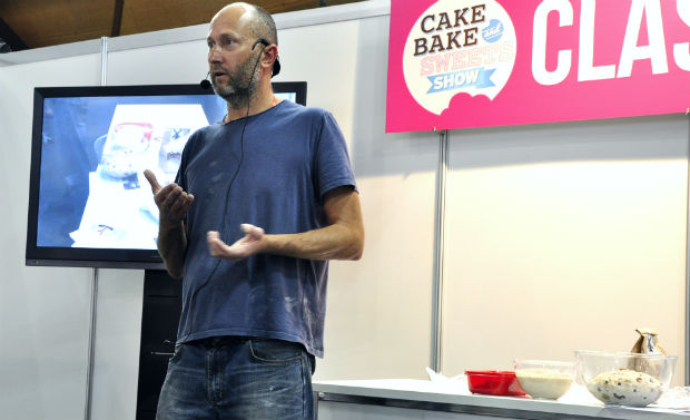 Graham Prichard talking about sourdough at Cake Bake and Sweets 2014
