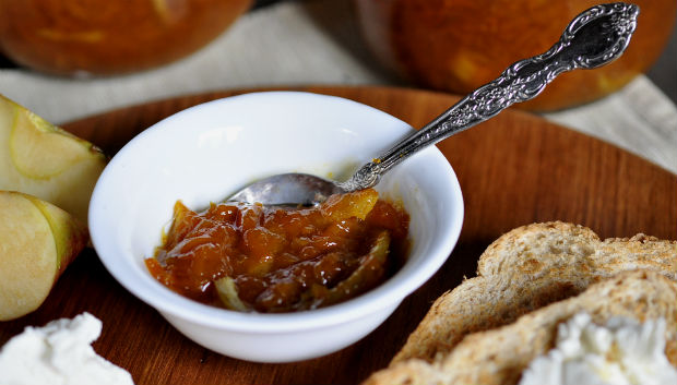 Pumpkin marmalade with ginger on lime
