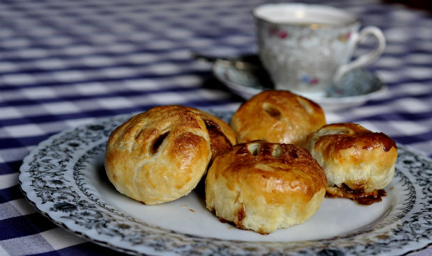 Eccles cakes on a plate