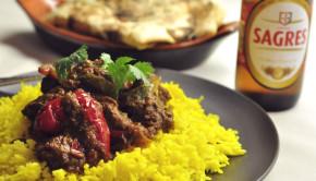 Beef jalfrazi via Nawaz and menu log