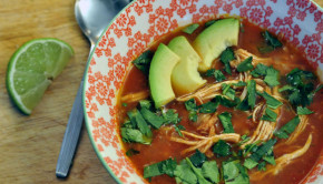 CHicken and lime soup Mexican style
