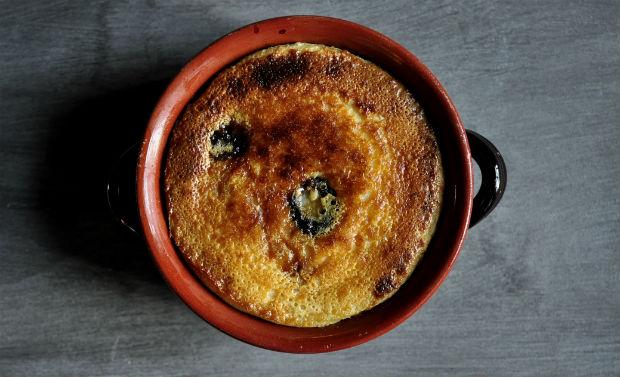 Far Breton in earthenware dish