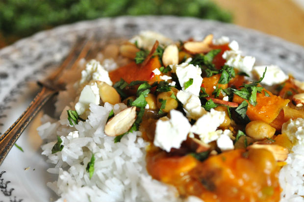 sweet potato and chickpea korma